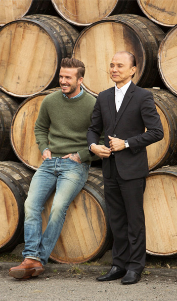 David Beckham launching Haig Gold with Jimmy Choo