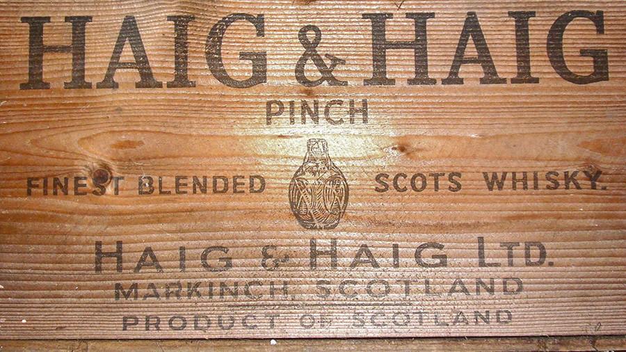 Haig and Haig Whisky Crate