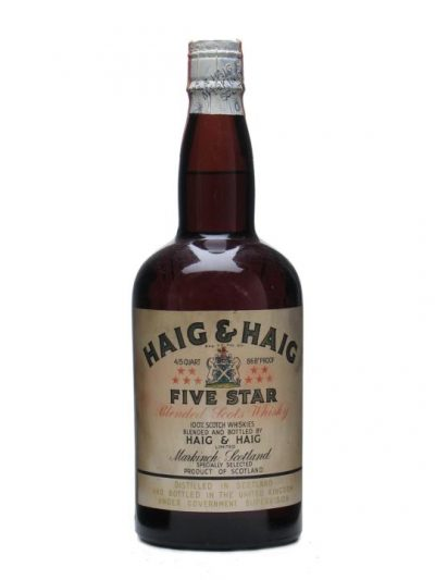 Haig & Haig Five Star / Bot.1950s / Spring Cap Blended Scotch Whisky